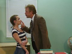 Katie St Ives went to college hoping to get an education but all that playgirl wants is sex.  This Babe's got the kind of hawt body that guys can't resist, and this playgirl pays a visit to her much loved professor during his office hours to watch if this playgirl can get some one-on-one attention.