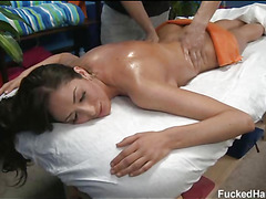 Those three beauties fucked hard by their massage therapist after getting a soothing rubdown