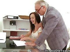 This indecent old teacher is in an amazing position of vigour over his student as that sweetheart asks for a second chance on her test. That Guy'll get to fuck her in advance of this chab gives way to her request!