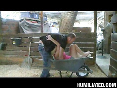 Halie Cummings, our breasty lady ally, is out in her barn flirting with the creepy farmer from next door. This Honey starts showing off her large farmer pointer sisters hoping to get milked or get milked on. That Honey a freaky one that can't live without getting porked all kinds of nasty ways......