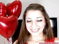 Gorgeous and energetic Abby blows dick and gets her face fucked solely to be bent over and get her wet crack pounded until that babe is satisfied then that babe gets a huge cum facial to go with her large smile.
