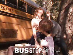 Faye is reading a book in front of the bus at camp when Chad Alva and gets a peek at those good titties. This Chab licks her from behind previous to Faye sucks down majority of his thick weenie. Then that guy copulates her mambos, licks her cum-hole and slips right inside. Faye rides Chad in cowgirl, giving him a chance to engulf her nipples some more, and they fuck in a pair more poses previous to this chab can't hold back anymore. This Guy pops on her face.