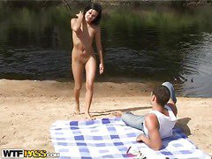 When a guy takes his hawt chick and a camera to the beach, u know what to expect. A hawt amateur outdoor sex film! Luckily, the dark brown sexdoll has no shame and willingly performs an extreme unfathomable mouth right on the beach, not giving a damn that somebody might watch it. Then things get way hotter as the horny pair starts fucking like insane, filming it all for this sexy beach porn. So sit back and have a fun their phat vid!