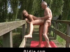 Monica Thu is golden-haired juvenile and curious and this guy is an oldman with experience and over all a guru. The ideal peer for an oldyoung copulates skills exchange. Lengthy love tunnel licking and intense cocksucking occur
