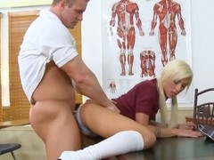 Schoolgirl has the first hardcore rencounter with a aged stud